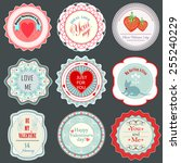 valentine's day labels | Shutterstock .eps vector #255240229