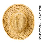 Straw Hat Isolated On A White...