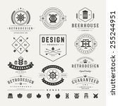 retro vintage insignias or... | Shutterstock .eps vector #255244951