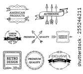 vector set of arrows design... | Shutterstock .eps vector #255246211
