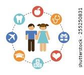couple children design  vector...   Shutterstock .eps vector #255250831