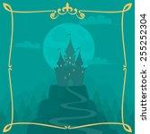 vector square cartoon... | Shutterstock .eps vector #255252304