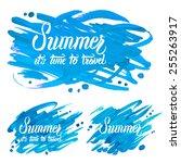 summer background | Shutterstock .eps vector #255263917