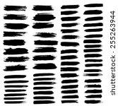 black ink vector brush strokes | Shutterstock .eps vector #255263944