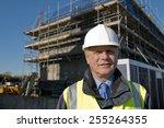 civil engineer with... | Shutterstock . vector #255264355