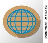 vector globe icon background   Shutterstock .eps vector #255266551