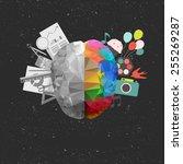 creative concept of the social... | Shutterstock .eps vector #255269287