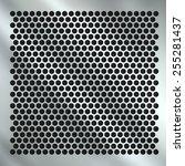 metal grid background | Shutterstock . vector #255281437