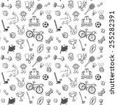 hand drawn doodle sport... | Shutterstock .eps vector #255282391