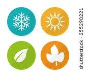 weather concept design  vector...   Shutterstock .eps vector #255290221