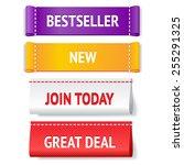 fabric bright vector label set... | Shutterstock .eps vector #255291325
