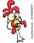 crazy chicken | Shutterstock .eps vector #255304897