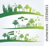 ecology concept. save world... | Shutterstock .eps vector #255306811