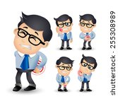 people set   sick   businessman ... | Shutterstock .eps vector #255308989