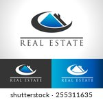 real estate logo icon with roof ... | Shutterstock .eps vector #255311635