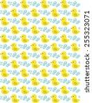 yellow rubber duck seamless... | Shutterstock .eps vector #255323071