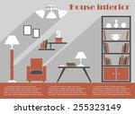 house interior design... | Shutterstock .eps vector #255323149