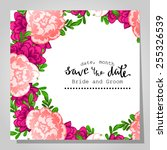 wedding invitation cards with... | Shutterstock .eps vector #255326539