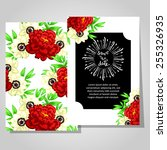 wedding invitation cards with... | Shutterstock .eps vector #255326935