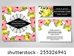 wedding invitation cards with... | Shutterstock .eps vector #255326941