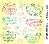 vector set of summer travel and ... | Shutterstock .eps vector #255328129