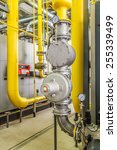 boiler gas pipelines with... | Shutterstock . vector #255339499