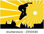 jumping skateboarder vector... | Shutterstock .eps vector #2553430