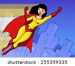 illustration of a pretty super...   Shutterstock .eps vector #255359335