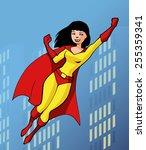 illustration of a pretty super...   Shutterstock .eps vector #255359341