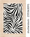 Zebra Skin Print In Vector.