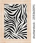 Zebra Skin Print In Vector.