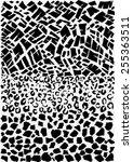 abstract animal skin in vector. | Shutterstock .eps vector #255363511
