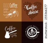 coffee labels and badges. retro ... | Shutterstock .eps vector #255366277