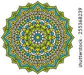 mandala. vector ethnic oriental ... | Shutterstock .eps vector #255368239
