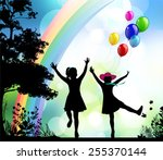 childhood.  | Shutterstock .eps vector #255370144