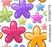 seamless colorful spring flower ...   Shutterstock .eps vector #255383779