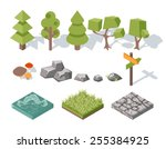 Flat Elements Of Nature. Trees...