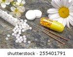 alternative medicine with... | Shutterstock . vector #255401791