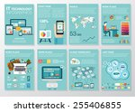 big set of infographics... | Shutterstock .eps vector #255406855