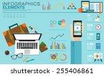 flat modern design vector... | Shutterstock .eps vector #255406861
