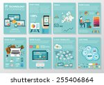 big set of infographics... | Shutterstock .eps vector #255406864