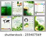 st. patrick's day vector set of ... | Shutterstock .eps vector #255407569