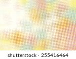 abstract halftone graphic... | Shutterstock .eps vector #255416464