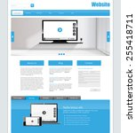 one page website design... | Shutterstock .eps vector #255418711
