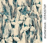 irises seamless pattern | Shutterstock . vector #255420769