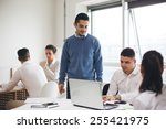 group of business people in... | Shutterstock . vector #255421975