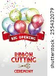 ribbon cutting ceremony... | Shutterstock .eps vector #255432079