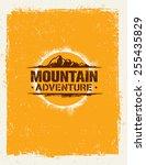 mountain adventure. creative... | Shutterstock .eps vector #255435829