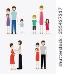 familiy  desing over white... | Shutterstock .eps vector #255437317