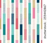 seamless doodle dots vertical... | Shutterstock .eps vector #255442867